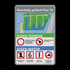 Plattegrondbord rechthoek 3:2  full-colour - EIGEN ONTWERP logobord, eigen ontwerp, schoolplein, speciale borden